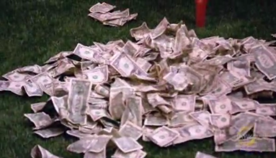 A big pile of money