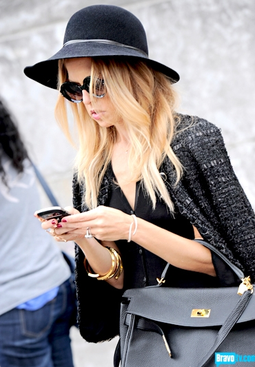 Rachael Zoe in Paris Spring 2012 Fashion Week Waiting for Chanel show to start
