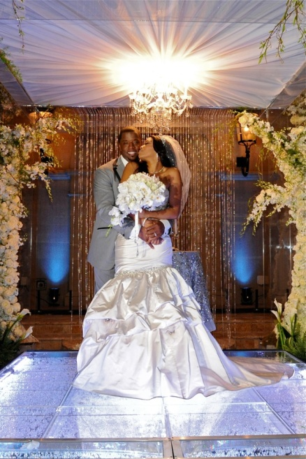 RHOA Kordell and Porsha wedding photo
