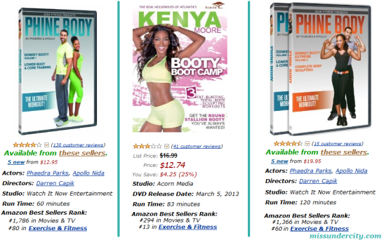 RHOA Phaedra vs Kenya Workout Videos
