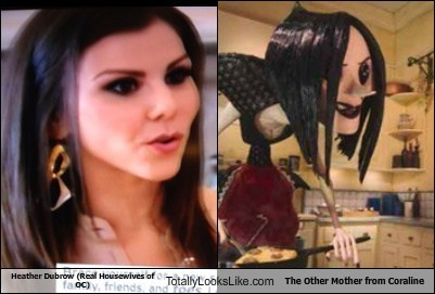 RHOC Heather Dubrow looks like Other Mother from Coraline