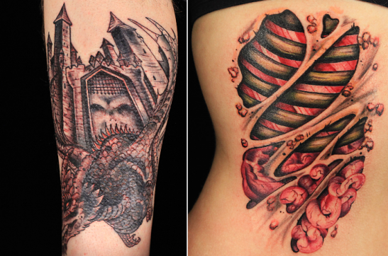 Ink Master Maddie La Belles tattoos from episodes 1 and 2