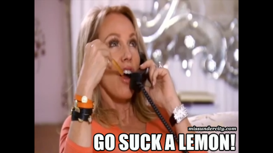 RHOM Lea Black go suck a lemon
