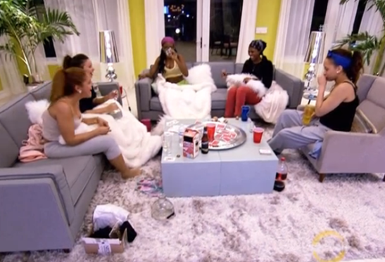 BGC 11 wolf pack girls eating burping and talking shit